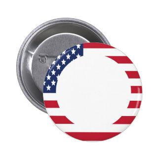 American Flag Border custom text Button