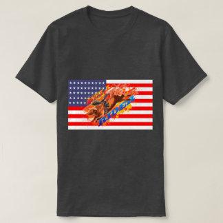 American Flag Bull Rider T-Shirt