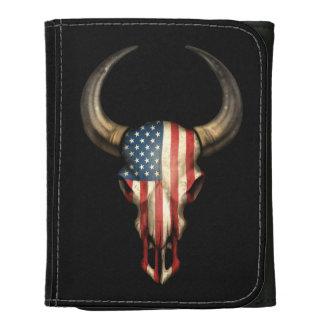American Flag Bull Skull Wallet