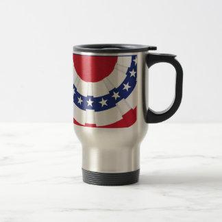 American Flag Bunting Travel Mug