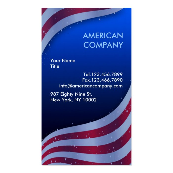 american flag business card