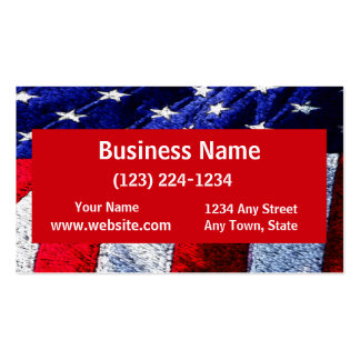 American Flag Double-Sided Standard Business Cards (Pack Of 100)