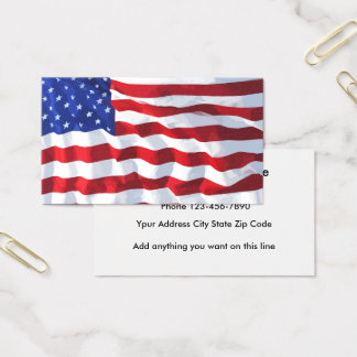 American Flag Business Card Design
