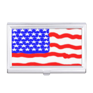 American Flag Business Card Holder