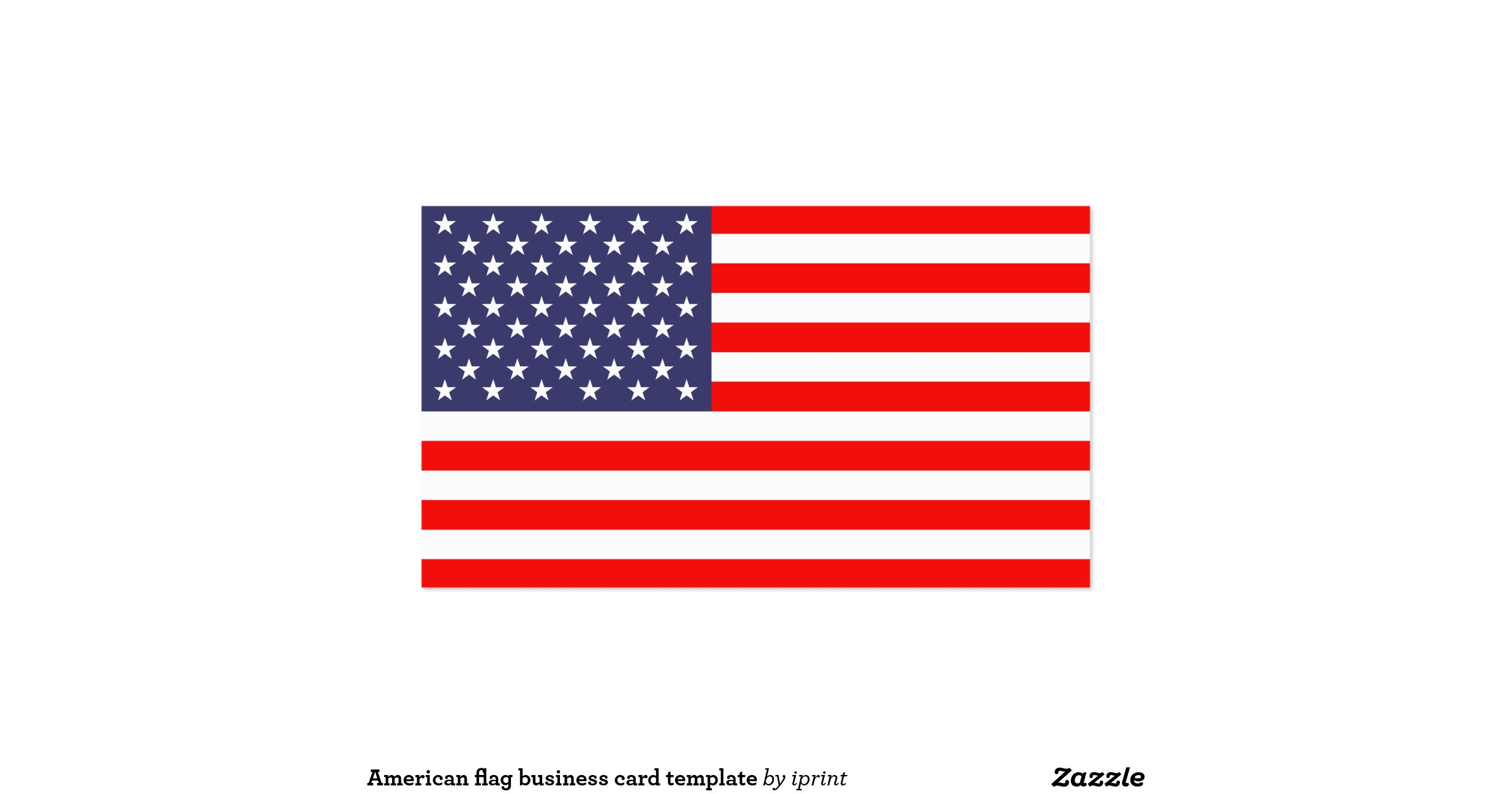 American flag business card template for Patriotic business card template