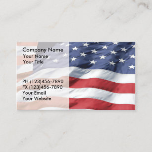 American flag stars business cards templates zazzle american flag business cards reheart Images