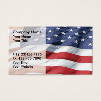 American Flag Business Cards