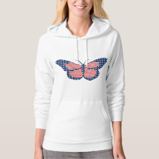 American Flag Butterfly Abstract Art Hoodie