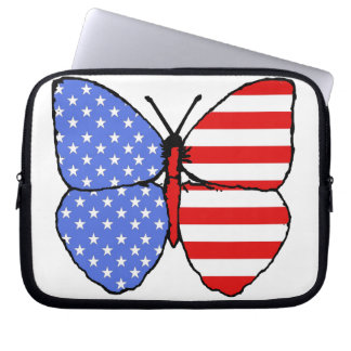 American Flag Butterfly Laptop Sleeve