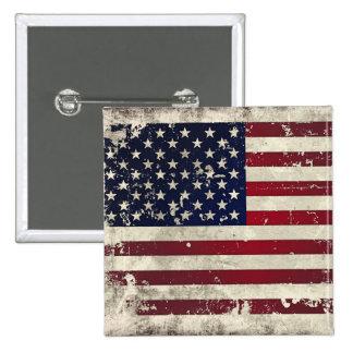 American Flag 2 Inch Square Button