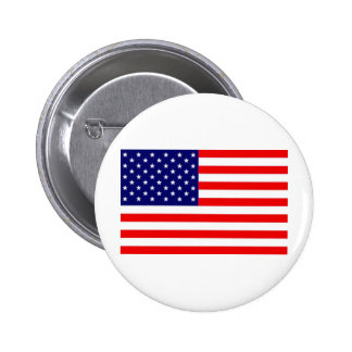 American Flag 2 Inch Round Button