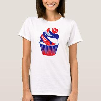american flag cake,america,cupcake,flag cake T-Shirt