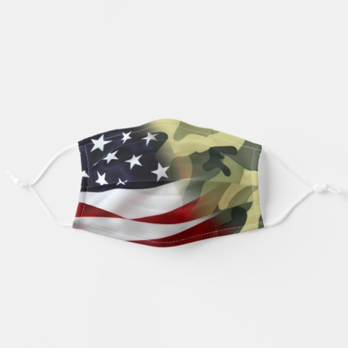American Flag Camo Adult Cloth Face Mask