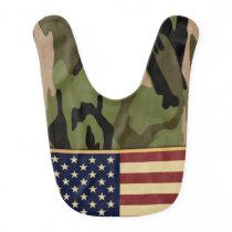 American Flag Camo Bib