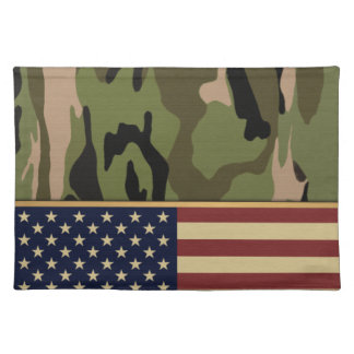 American Flag Camo Cloth Placemat