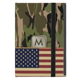 American Flag Camo MonoGram Cases For iPad Mini