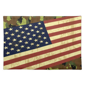 American Flag Camo Placemat