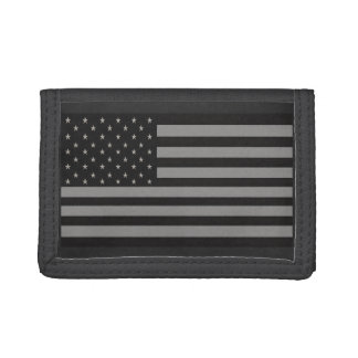 American Flag Camo Trifold Wallets