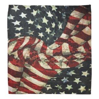 American Flag-Camouflage Bandana