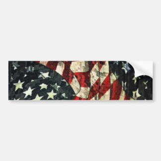 American Flag-Camouflage by Shirley Taylor Bumper Sticker