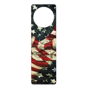American Flag Camouflage By Shirley Taylor Door Hanger