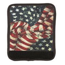 American Flag-Camouflage by Shirley Taylor Luggage Handle Wrap