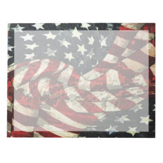 American Flag-Camouflage by Shirley Taylor Notepad