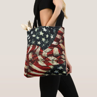 American Flag-Camouflage by Shirley Taylor Tote Bag