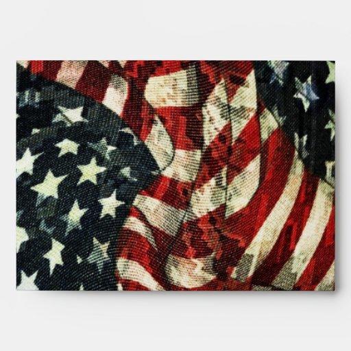 American Flag-Camouflage Envelopes