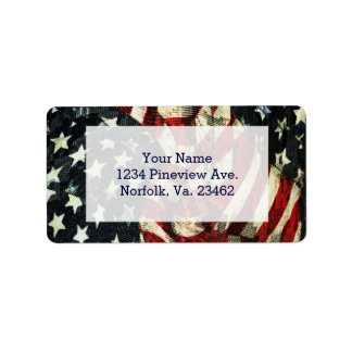American Flag-Camouflage Label