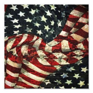 American Flag-Camouflage Photo Print