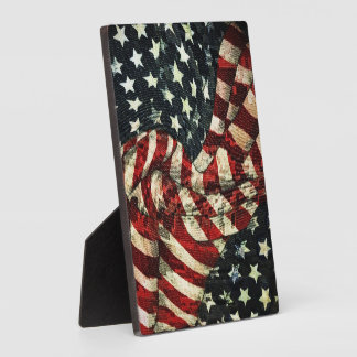 American Flag-Camouflage Plaque