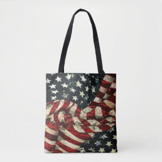 American Flag-Camouflage Tote Bag