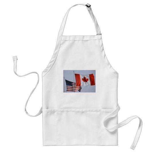 AMERICAN FLAG / CANADIAN FLAG ADULT APRON