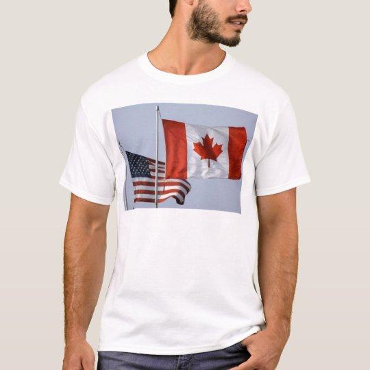 AMERICAN FLAG / CANADIAN FLAG T-Shirt