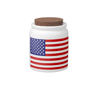 American flag candy jars