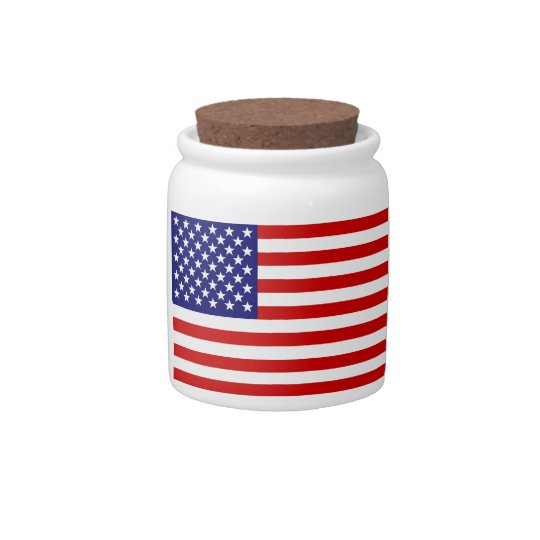 American flag candy jars