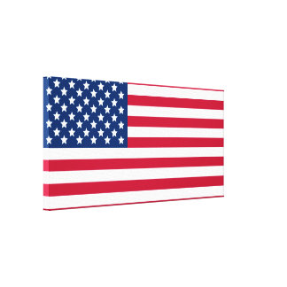 American Flag Gallery Wrapped Canvas