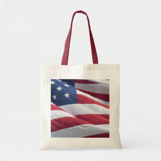 American Flag Canvas Bag