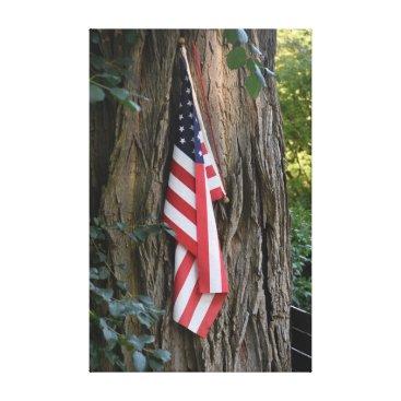 USA Themed American Flag Canvas Print