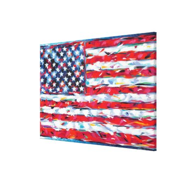 USA Themed American Flag Canvas Print