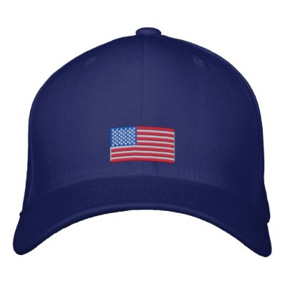 American Flag Cap Embroidered Hat