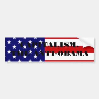 american-flag, CAPITALISM. THE ANTI-OBAMA Bumper Sticker