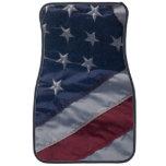 American flag. car mat