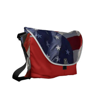 American Flag Carry-All Tote Courier Bag