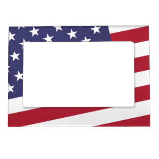 American Flag - Celebrate the US of A Magnetic Photo Frame