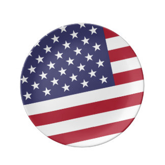 American Flag - Celebrate the US of A Plate
