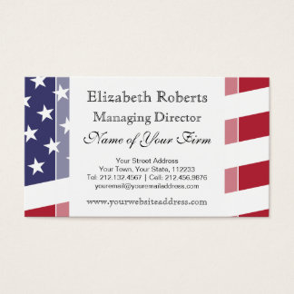 American Flag - Celebrate the USA Business Card