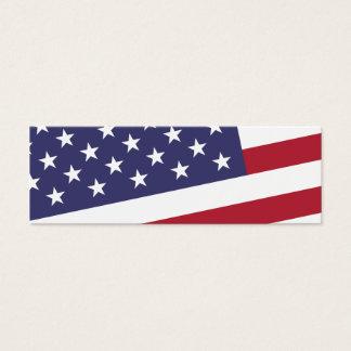 American Flag - Celebrate the USA Mini Business Card