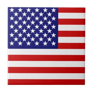 American flag ceramic tile